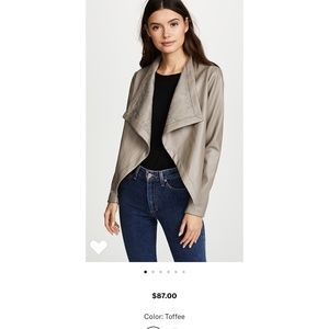 BB Dakota Vegan Leather draped jacket